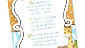 Baby Shower Invitation Wording for Books Instead Of Cards Wording to ask for Baby Books Instead Of the Card