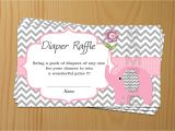 Baby Shower Invitations and Diaper Raffle Tickets Elephant Baby Shower Diaper Raffle Ticket Diaper Raffle Card