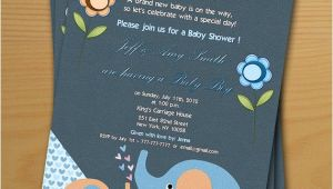 Baby Shower Invitations and Thank You Cards Boy Baby Shower Invitation Free Thank You Card Included Baby