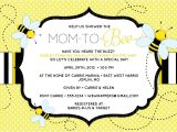 """Baby Shower Invitations Bumble Bee theme Bee Baby Shower Invitation """"mom to """"bee"""" Bee themed"""