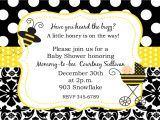 Baby Shower Invitations Bumble Bee theme Bumble Bee Baby Shower Ideas