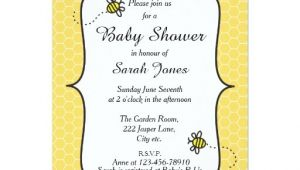 Baby Shower Invitations Bumble Bee theme Cute Bumble Bee themed Baby Shower Invitation