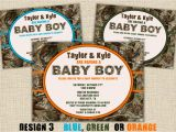Baby Shower Invitations Camouflage Hunting Camo Baby Shower Invitation Hunting Camouflage Boy Redneck