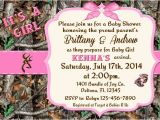 Baby Shower Invitations Camouflage Hunting Pink Camo Baby Shower Invitations