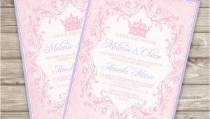 Baby Shower Invitations Dollar Tree Template Printable Princess Baby Shower Invitations at