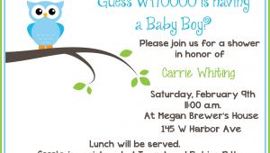 Baby Shower Invitations for Free Free Printable Owl Baby Shower Invitations Sample