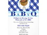 Baby Shower Invitations for Men Babyq Bbq Mens Baby Boy Shower Blue Invitations