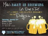 Baby Shower Invitations for Men Beer and Diaper Shower Invitation Boy Man Shower Man Diaper