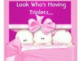 Baby Shower Invitations for Triplets Triplets Girls Baby Shower Invitation