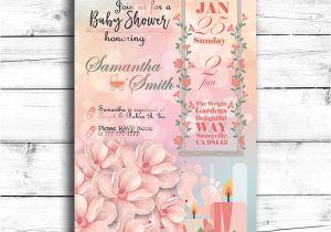 Baby Shower Invitations Garden theme Garden Party themed Printable Baby Shower Invitation