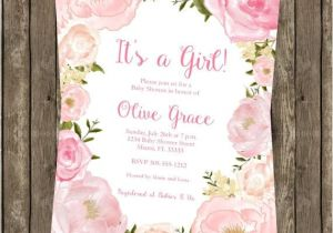 Baby Shower Invitations Garden theme Garden themed Baby Shower Invitations