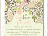 Baby Shower Invitations Garden theme Paisley Garden Baby Shower Invitation for Baby Girl