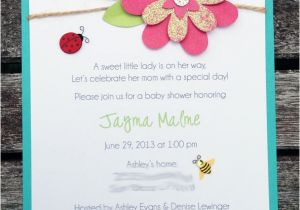 Baby Shower Invitations Garden theme Playing with Paper Scrapbooks Cards & Diy Garden theme