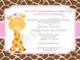 Baby Shower Invitations Giraffe theme Baby Shower Invitations Giraffe theme