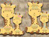 Baby Shower Invitations Giraffe theme Giraffe Baby Shower Invitation Giraffe Baby Shower