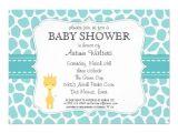 Baby Shower Invitations Giraffe theme Giraffe Baby Shower Invitations