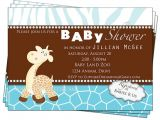 Baby Shower Invitations Giraffe theme Giraffe Baby Shower Invitations Printable Digital Party by