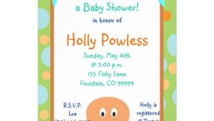 Baby Shower Invitations In Honor Of Undersea2 Its Time fora Baby Shower In Honor Custom