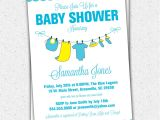 Baby Shower Invitations Stores Baby Shower Invitations Yellow Blue Baby Clothes