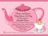 Baby Shower Invitations Tea Party theme Tea Party Baby Shower Invitation Baby Shower
