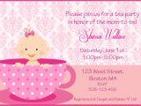 Baby Shower Invitations Tea Party theme Tea Party Baby Shower Invitations