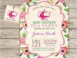 Baby Shower Invitations Tea Party theme Tea Party Baby Shower Invitations Party Xyz