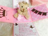 Baby Shower Invitations Teddy Bear theme Girl Baby Shower Invitation Princess theme Invitation
