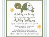 Baby Shower Invitations Turtle theme Turtle Baby Shower Invitations — Unique Baby Shower Favors