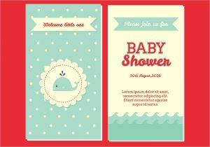 Baby Shower Invitations Vector Baby Shower Invitation Vector Download Free Vector Art