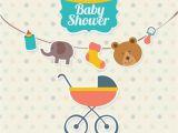 Baby Shower Invitations Vector Cute Baby Shower Invitation Vector