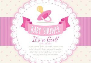 Baby Shower Invitations Vector Girlish Baby Shower Invitation Vector