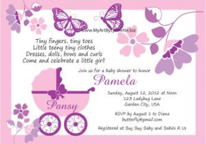Baby Shower Invitations with butterflies butterfly Baby Shower Invitations – Gangcraft