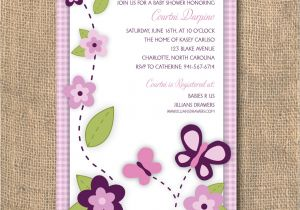 Baby Shower Invitations with butterflies butterfly Baby Shower Invitations Templates