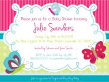 Baby Shower Invitations with butterflies Design butterfly Baby Shower Invitations