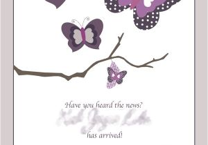 Baby Shower Invitations with butterflies Purple butterfly Baby Shower Invitations