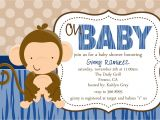 Baby Shower Invitations with Monkeys Baby Monkey Baby Shower Invitation