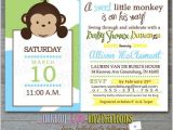 Baby Shower Invitations with Monkeys Baby Shower Invitations Monkey Baby Shower Invitations