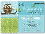 Baby Shower Invitations with Owl theme Owl themed Baby Shower Invitation