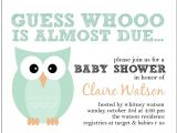 Baby Shower Invitations with Owl theme Owl themed Baby Shower Invitation whoo is Due Set Of 16