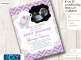 Baby Shower Invitations with sonogram Picture Girl Elephant Ultrasound Baby Shower Invitation for