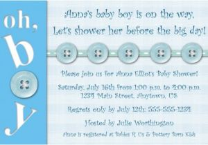 Baby Shower Invitations Wording for Boys Homemade Baby Shower Invitations