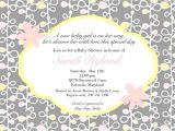Baby Shower Invitations Wording Wording for Baby Shower Invitations asking for Gift Cards