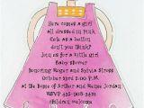 Baby Shower Invite Poem Girl Baby Girl Shower Invitations Ideas