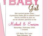 Baby Shower Invite Poem Girl Baby Shower Invitation Wording