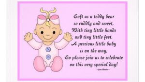 "Baby Shower Invite Poem Girl Personalized Baby Shower Invitations Baby Girl 4 25"" X 5 5"