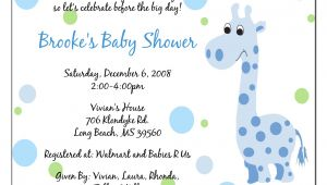 Baby Shower Invite Words Invitation Baby Boy Quotes Quotesgram