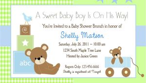 Baby Shower Invites for A Boy Baby Shower Invitation Wording Lifestyle9