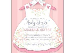 Baby Shower Invites Girl Baby Girl Dress Invitations