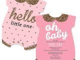 Baby Shower Invites Girl Custom Baby Shower Invitations for Girl