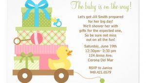 "Baby Shower Invites Unisex Uni Baby Shower Invitation 5"" X 7"" Invitation Card"